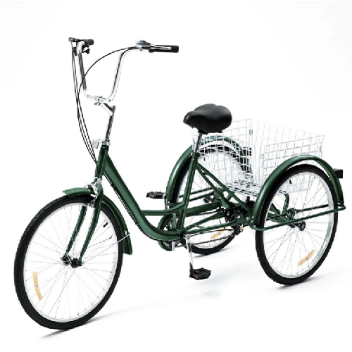 "24"" Tricycle Adult 3 Wheel Trike 3 Wheel Bike 1 Speed  for Shopping/Exercise/Outing"