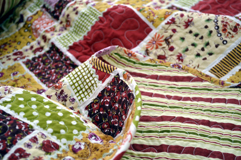 DaDa Bedding Multi Colorful Floral Red Patchwork Quilted Coverlet Bedspread Set (DXJ103269)