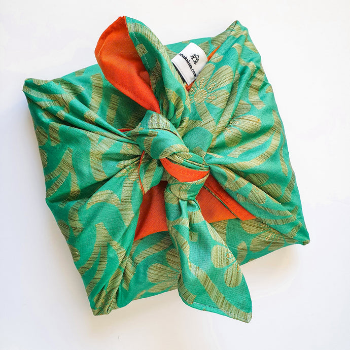 All about reusable upcycled sari gift wrap