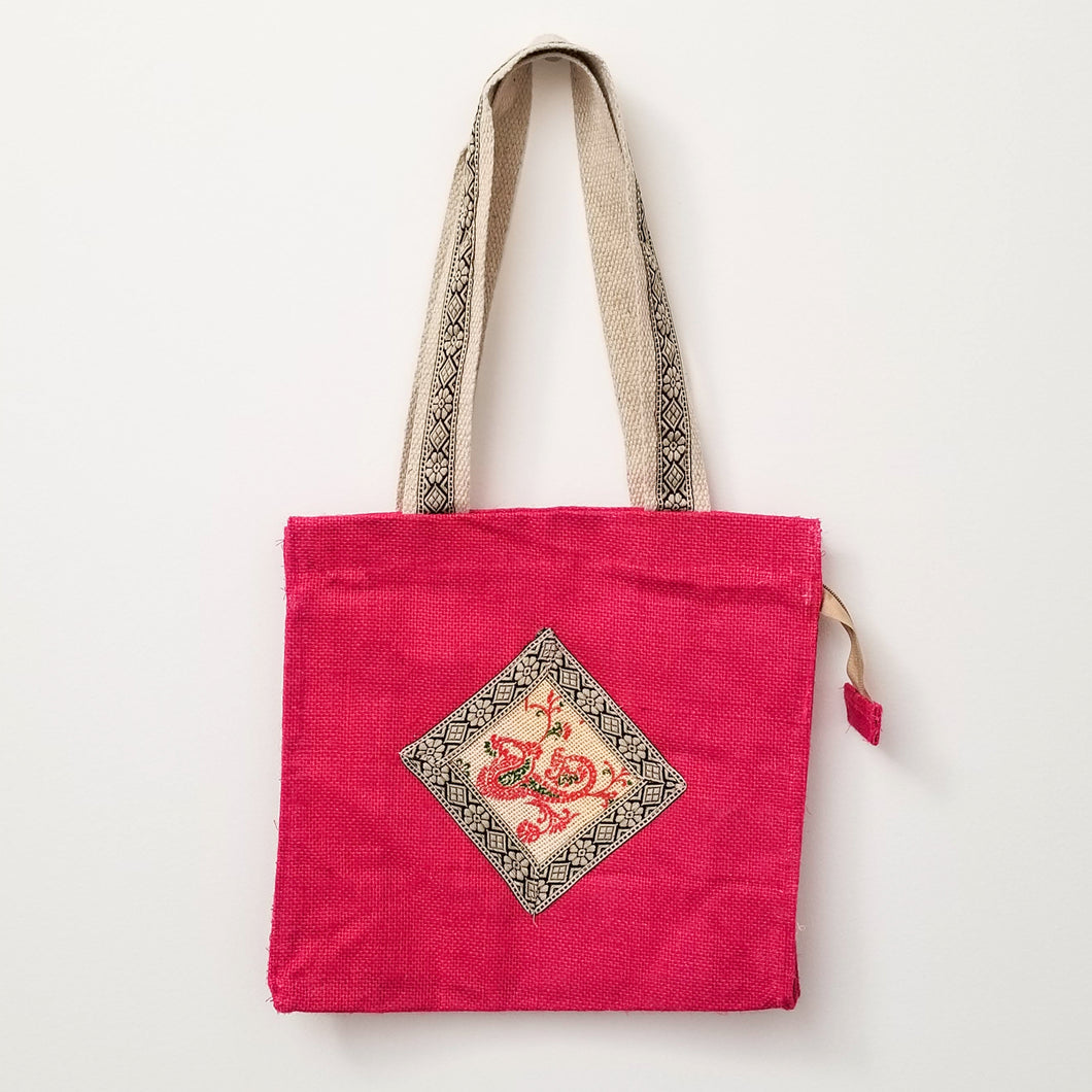 Handwoven jute market bag