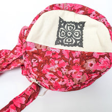 Load image into Gallery viewer, Round sari shoulder bag