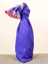 Load image into Gallery viewer, Upcycled sari gift wrap (double-sided, made from 2 complimentary saris)