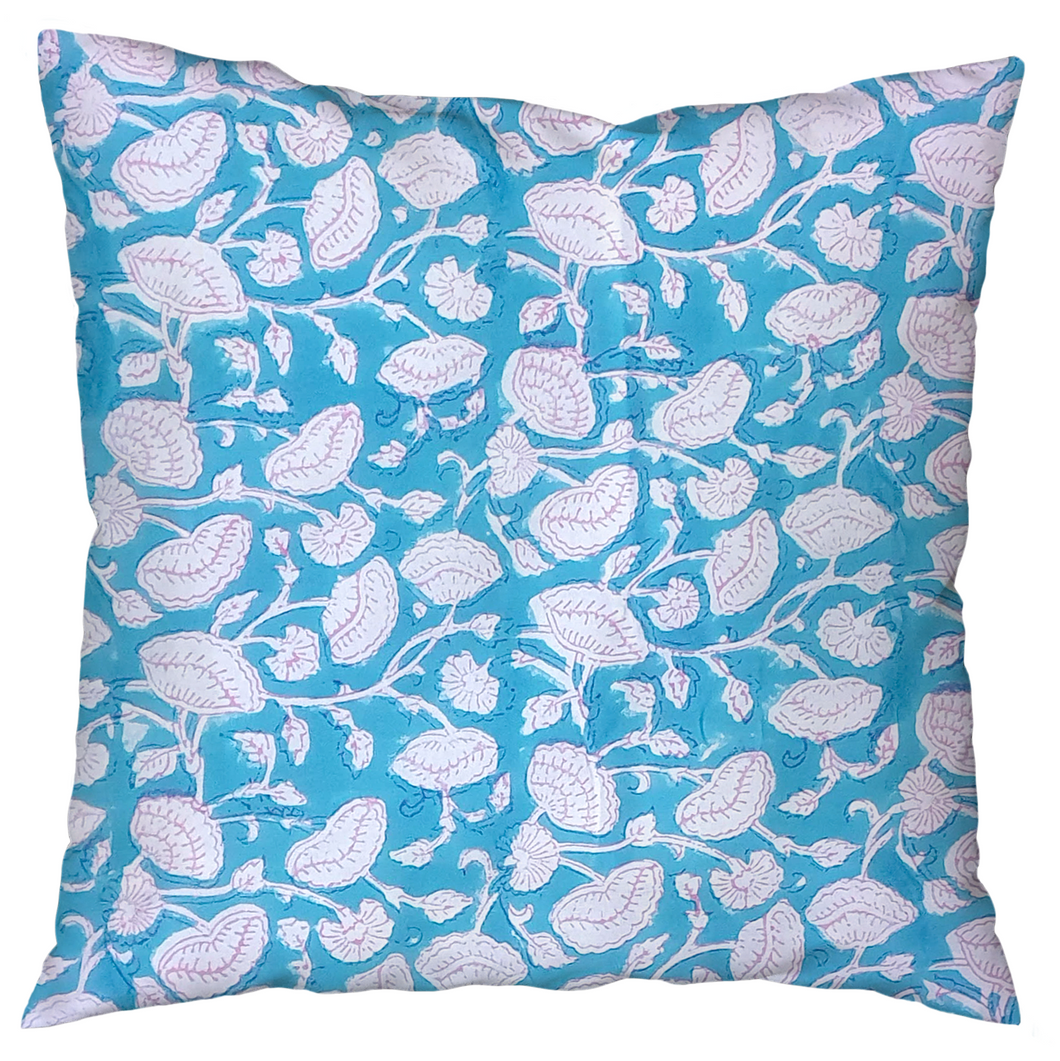 Block-printed cushion covers