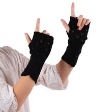 Load image into Gallery viewer, Winter Gloves For Women Gloves Winter Warm Hollow Out Knitted Gloves Women Punk Fingerless Cuff Warmer Knit Gloves Winter