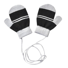 Load image into Gallery viewer, Kids Gloves Mittens Children Winter Warm Multicolor Striped Knitted Cute With String Gloves 2019 Rekawiczki Dzieciece CD