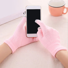 Load image into Gallery viewer, Hot Winter Gloves Women Men Touch Screen Gloves Warm Mittens Solid Cotton Warm Thick Knitted Five Fingers Gloves Christmas Gifts