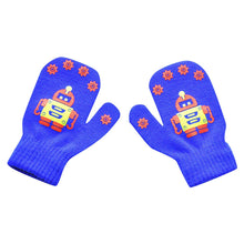 Load image into Gallery viewer, Kids Gloves New Cute Robot Printed Mittens Winter Knitted Newborn Mittens Thicken Gloves Keep Warm For 1-4 Years Old Children