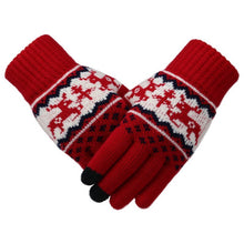 Load image into Gallery viewer, Christmas Women Winter Gloves Wool knitted gloves Keep Warm Touch Screen Gloves Geometric Pattern Cycling Riding mitten