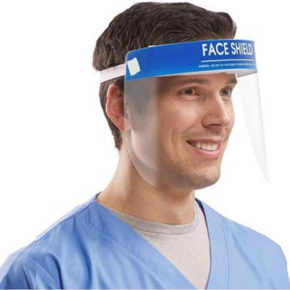 Reusable Protective Face Shield with Adjustable Headband - (10 Pack)