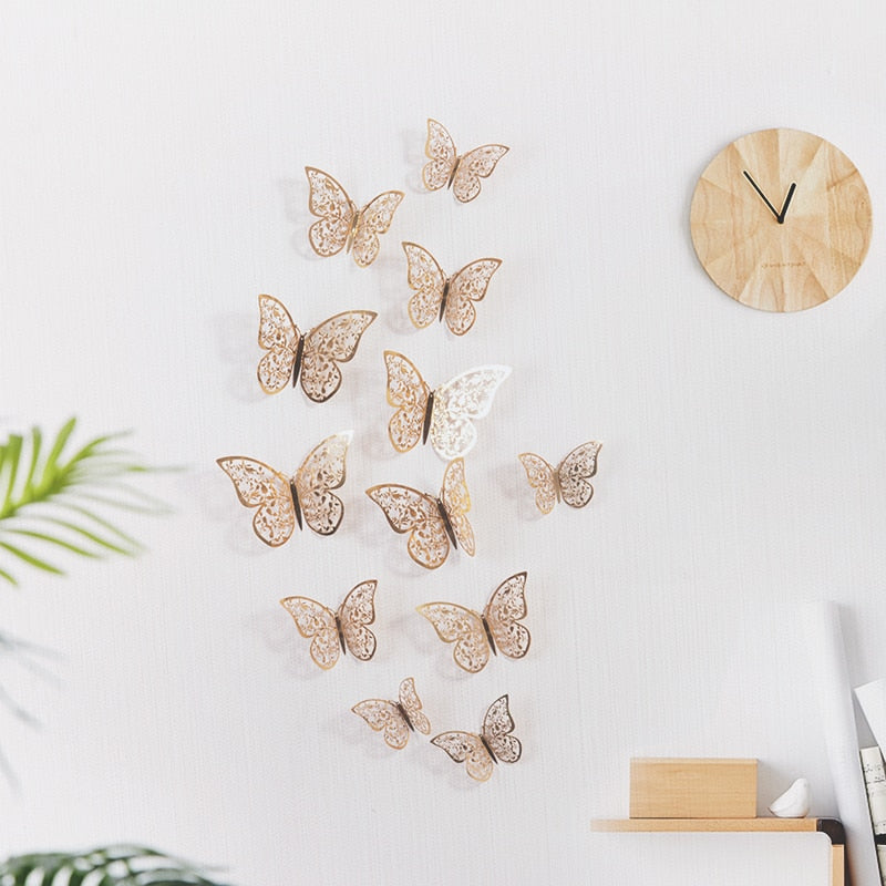 12 Pcs/Set 3D Wall Sticker - Alpha Sticker