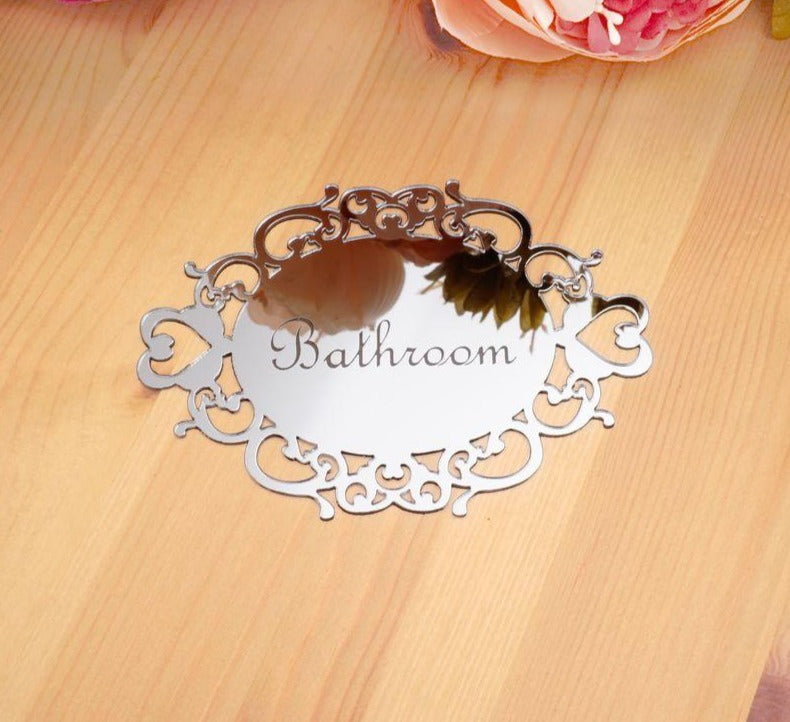 Toilet WC Door Sign Wall Sticker - Alpha Sticker