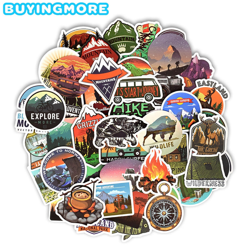 Camping Landscape Stickers - Alpha Sticker