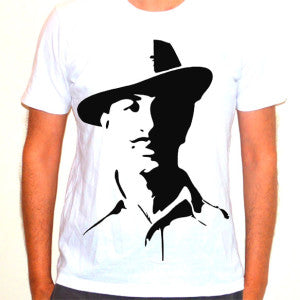 Bhagat Singh T Shirt - Alpha Sticker
