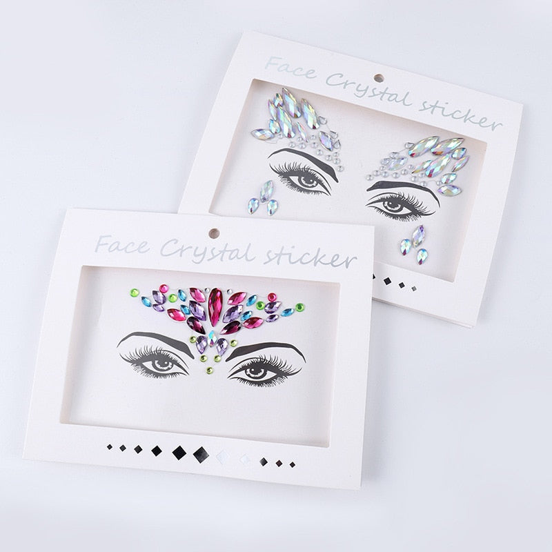 Temporary Crystal Eyes Tattoo - Alpha Sticker