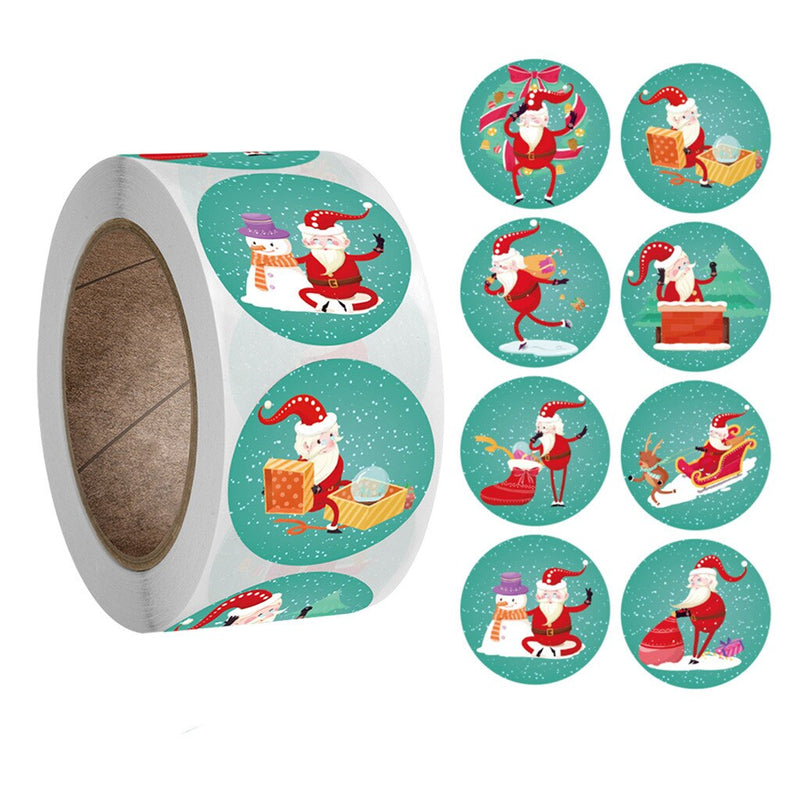 Christmas Sticker Roll - Festive Christmas 500 Sticker Pack - Alpha Sticker