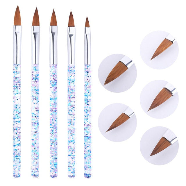 Nail Pen French Nail Mixed Colors Gourd Handle Nail Art DIY Tools - Alpha Sticker