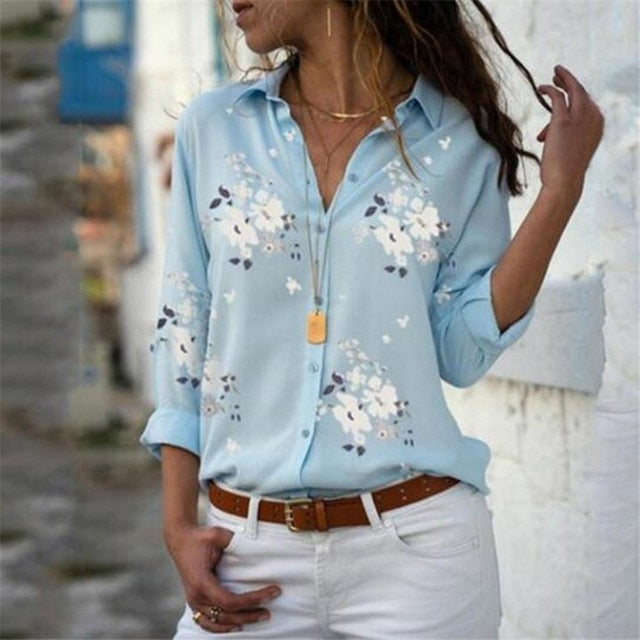 Casual Short Sleeve Print Shirt Blouse Blusa Feminina - Alpha Sticker