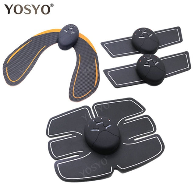 Muscle Stimulator ABS Fitness Buttocks Butt Lifting Toner Slimming Massager Unisex - Alpha Sticker