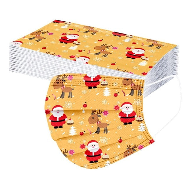 Christmas Disposable Face Mask - Alpha Sticker