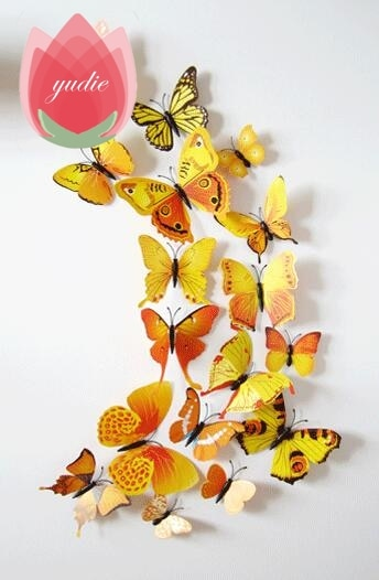 3D Multicolor Butterfly Magnet Stickers - Alpha Sticker