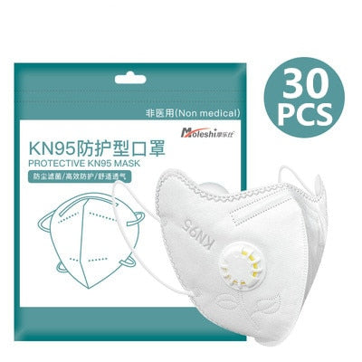 Reusable KN95 FFP2 Face Mask Respirator - Alpha Sticker