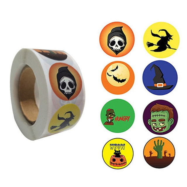 500 Halloween Stickers - The Ultimate Halloween Sticker Roll - Alpha Sticker