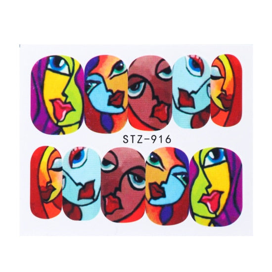 Water Transfer Stickers Mask - Alpha Sticker