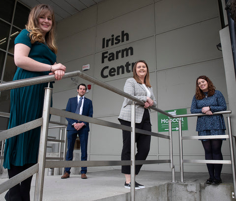 The 2021-2023 Macra na Feirme President Team. From left:NorthWest Vice President Luna Orofiamma, National President John Keane, Munster Vice-President Elaine Houlihan and Leinster Vice-President Claire Gough