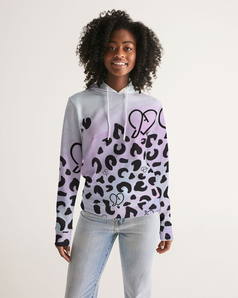 JADed Leopard watercolor Adult Hoodie