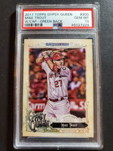 Load image into Gallery viewer, 2017 Topps Gypsy Queen Mike Trout SP Green Back PSA 10 Gem Mint