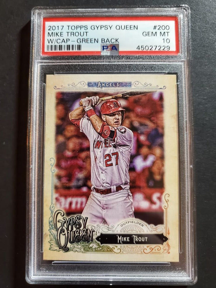 2017 Topps Gypsy Queen Mike Trout SP Green Back PSA 10 Gem Mint