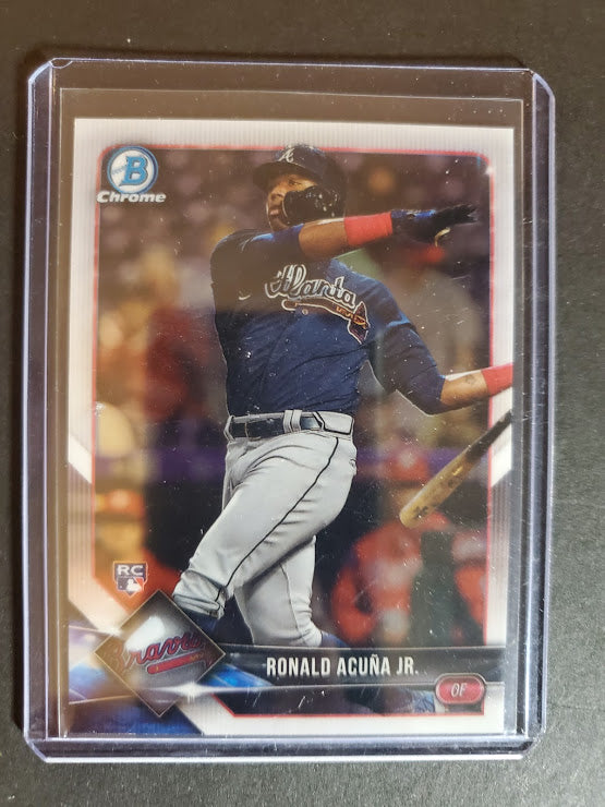 2018 Bowman Chrome Ronald Acuna Jr. Rookie Card