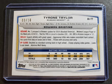 Load image into Gallery viewer, 2014 Bowman Tyrone Taylor Purple Cracked Ice SSP Autograph /10