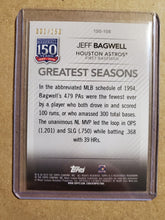 Load image into Gallery viewer, 2019 Topps Series 1 Jeff Bagwell 150 Years Gold Foil Greatest Seasons /150