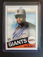 Load image into Gallery viewer, 2020 Topps Series 2 Jaylin Davis Autograph Rookie 35th Anniversary Insert
