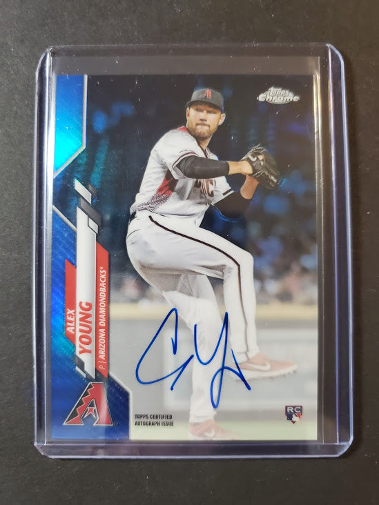 2020 Topps Chrome Alex Young Autograph Blue Refractor /150
