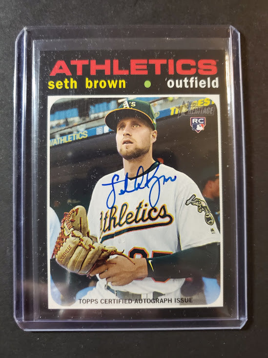 2020 Topps Heritage Seth Brown Real One Autograph