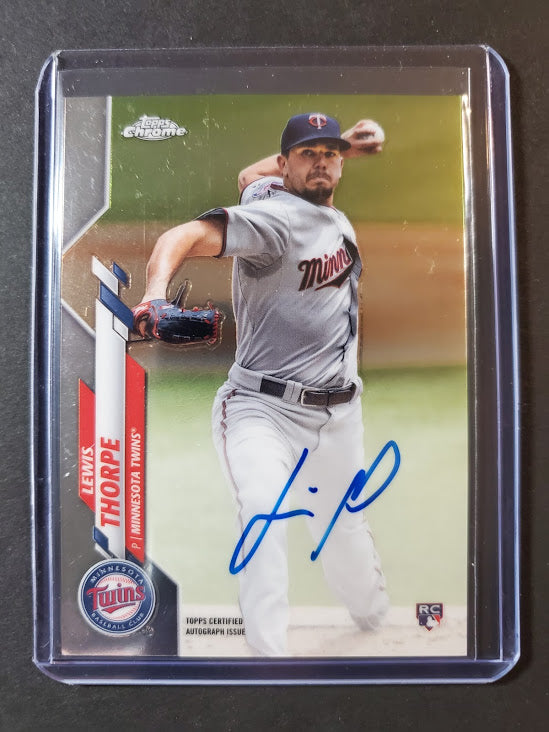 2020 Topps Chrome Lewis Thorpe Autographed Rookie