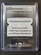 Load image into Gallery viewer, 2019 Topps Tribute Miles Mikolas Autographed /150