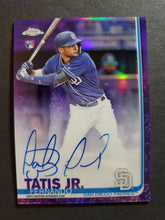 Load image into Gallery viewer, 2019 Topps Chrome RC Autographed Refractor Fernando Tatis Jr. /250