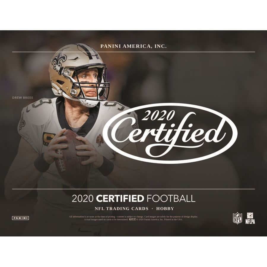 2020 Hobby Box Panini Certified Football