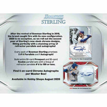 Load image into Gallery viewer, 2020 Hobby Box Bowman Sterling