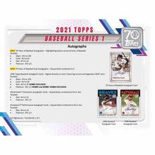 Load image into Gallery viewer, 2021 Pre Sale Hobby Box Jumbo Topps Series 1