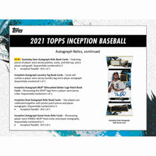 Load image into Gallery viewer, 2021 Pre Sale Hobby Box Topps Inception