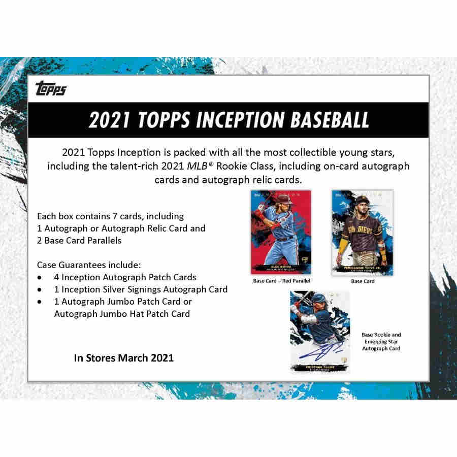 2021 Pre Sale Hobby Box Topps Inception