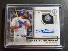 Load image into Gallery viewer, 2019 Topps Tribute Kyle Schwarber Autograph Relic SP /50