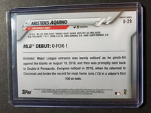 Load image into Gallery viewer, 2020 Topps Update Aristides Aquino Rookie Card Debut