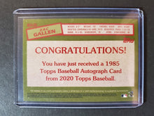 Load image into Gallery viewer, 2020 Topps Zac Gallen Autographed Rookie 1985 Insert