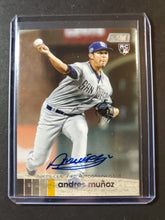 Load image into Gallery viewer, 2020 Topps Stadium Club Andres Munoz Autographed Rookie