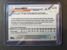 Load image into Gallery viewer, 2020 Topps Chrome Bryan Abreu Autograph Blue Wave Refractor /150